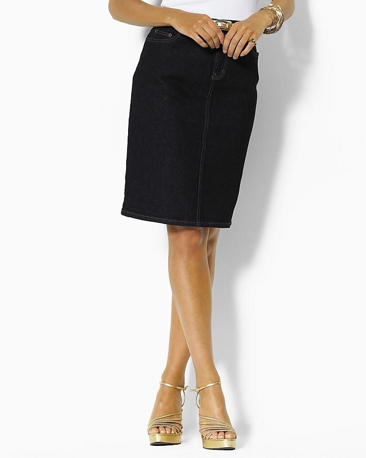 """Lauren Ralph Lauren Lori"""" Five-Pocket Skirt"""
