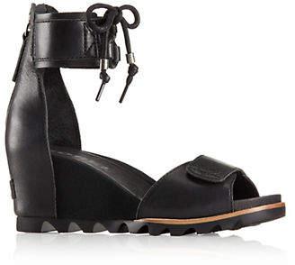 Sorel Leather Ankle-Strap Sandals