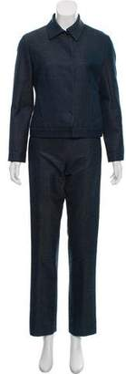 Marc Jacobs Wool & Silk Mid-Rise Pantsuit