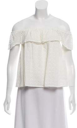 Rebecca Minkoff Cream Off-The-Shoulder Top w/ Tags