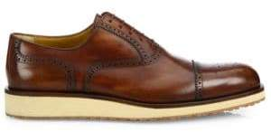 a. testoni Brogue Delave Leather Oxfords