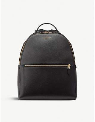 Smythson Panama small cross-grain leather backpack