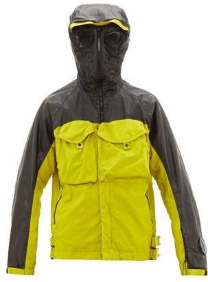 C.P. Company Goggle Contrast Panel Parka - Mens - Black Yellow