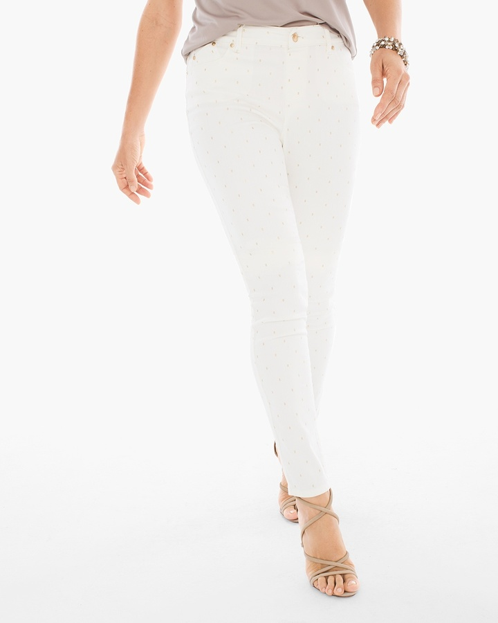 Chico'sFoil Dot Pull-on Jeggings