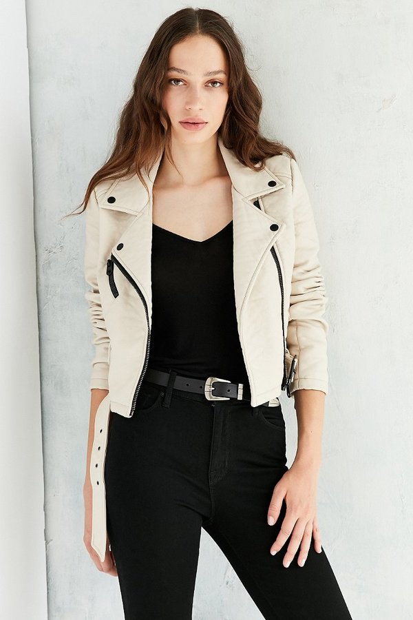 Members Only Pebbled Vegan Leather Jacket