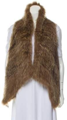Theory Fur-Accented Wool Vest
