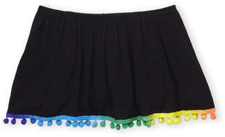Pinc Premium Girls 7-16) Pom-Pom Trim Flounce Top