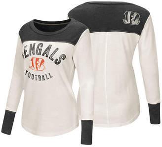 Touch by Alyssa Milano Women's Cincinnati Bengals Thermal Long Sleeve T-Shirt