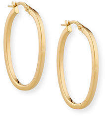 Roberto Coin Small 18K Gold Oval Hoop Earrings