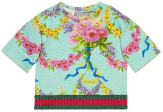 Gucci Baby flower garlands print sweatshirt