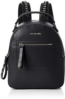 Love Moschino Borsa Soft Nappa Pu Nero, Women's Backpack Handbag,11x30x28 cm (B x H T)