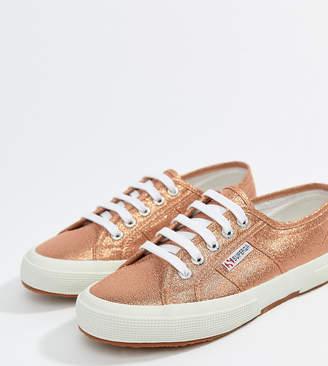 Superga 2750 Lame Metallic Sneakers In Pink