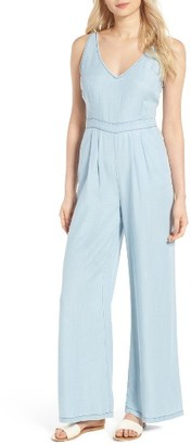 Women's Cupcakes And Cashmere Deven Chambray Jumpsuit $130 thestylecure.com