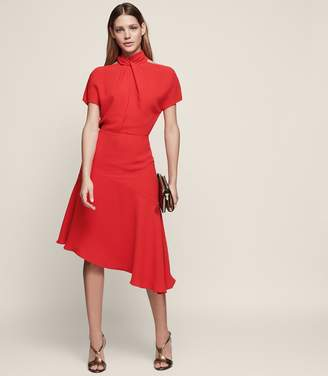 Reiss Zinc Halter-Neck Cocktail Dress