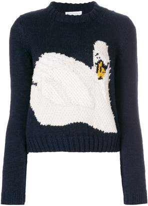 J.W.Anderson intarsia swan knitted sweater