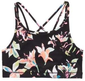 Ideology Big Girls Printed Strappy Sports Bra, Created for Macy's