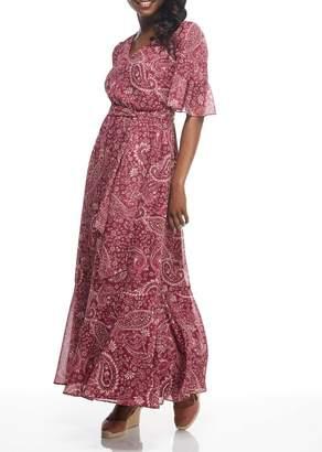 Gal Meets Glam V-Neck Paisley Maxi Dress