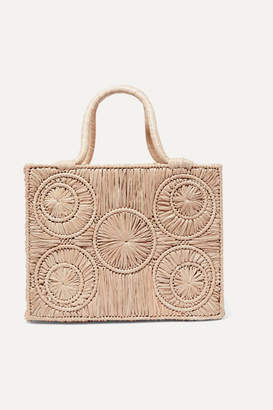 Sophie Anderson Caba Leather-trimmed Raffia Tote - Beige