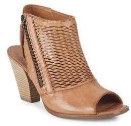 Paul Green Willow Leather Peep-Toe Booties