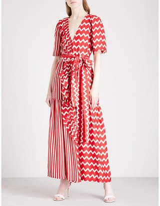Stella McCartney Gabrielle striped silk maxi dress