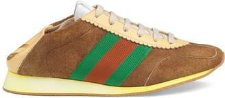 Gucci Suede sneaker with Web
