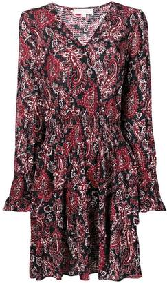 MICHAEL Michael Kors V-neck printed flared dress