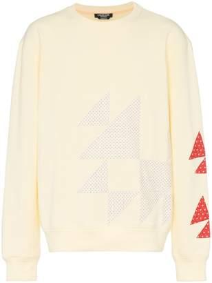Calvin Klein triangle embroidered cotton sweatshirt