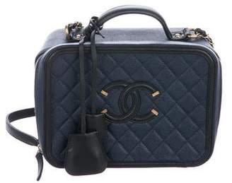 Chanel 2017 CC Filigree Medium Vanity Case