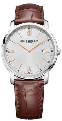 BAUME AND MERCIER Baume & Mercier Classima Leather Strap Watch, 42mm