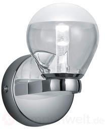 Stylische LED-Bad-Wandleuchte Brandon in Chrom