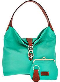 Dooney & Bourke Nylon Hobo with Logo Lock & Accessories $154 thestylecure.com