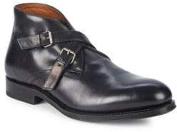 Aquatalia Vaughn Double Monk Strap Ankle Boots