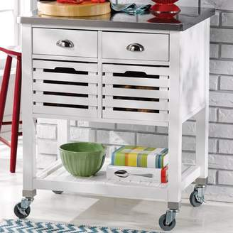 Fulton Red Barrel Studio Kitchen Cart with Stainless Steel Top