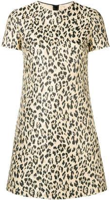 Valentino leopard-print mini dress