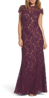 Women's Tadashi Shoji Corded Lace A-Line Gown $508 thestylecure.com