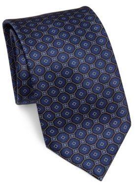 BrioniBrioni Geometric Silk Tie