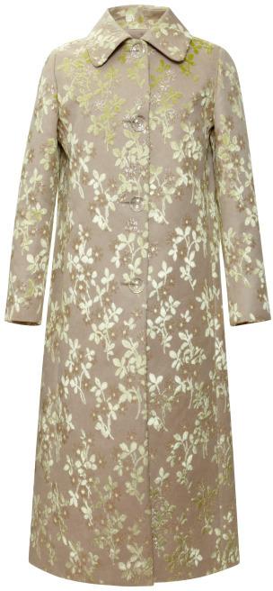 Rochas Bonded Duchesse Little Flowers Coat
