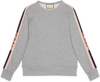 Gucci Cotton sweatshirt with stripe