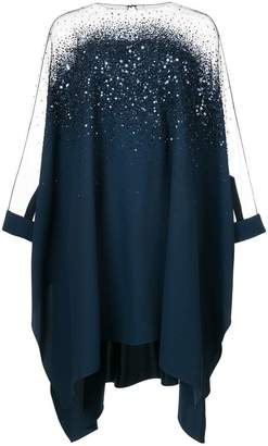 Oscar de la Renta sequined-embellished asymmetric tunic top