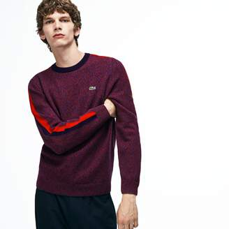 Lacoste Men's Made In France Crew Neck Contrast Band Jersey Sweater