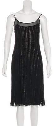 Alberta Ferretti Beaded Midi Dress