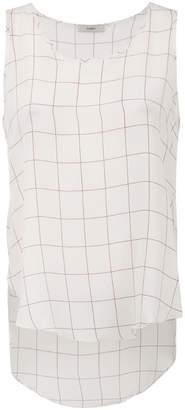 Egrey silk checkered tank top