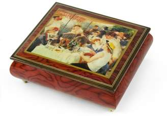 "Ercolano MusicBoxAttic Handcrafted Music Box Featuring ""Luncheon of the Boating Party"" by Renoir, Pierre Auguste - Invitation to the Dance"