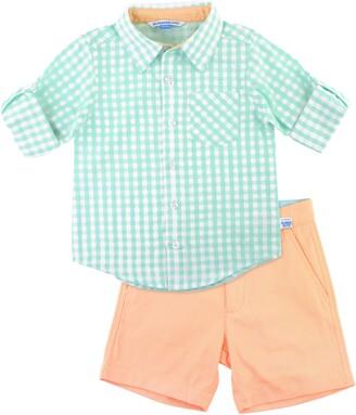 RuggedButts Gingham Check Shirt & Shorts Set