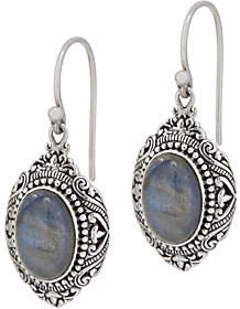Artisan Crafted Sterling Cabochon GemstoneDrop Earrings