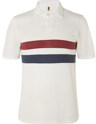 Iffley Road - Bracknell Slim-Fit Striped Drirelease Pique Polo Shirt - Men - White