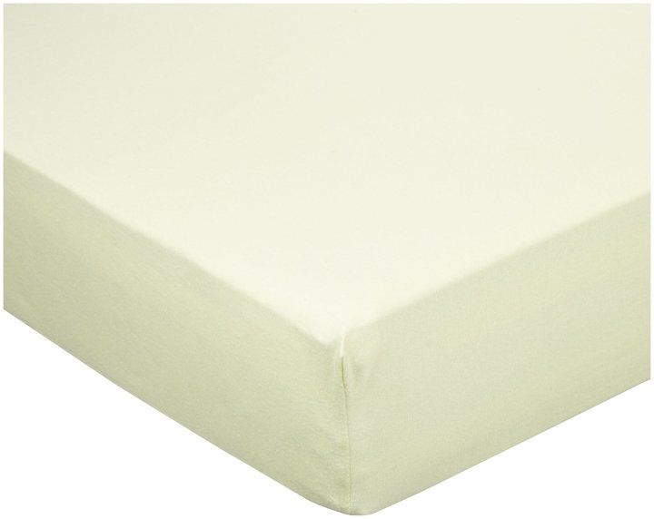 Luvable Friends Fitted Crib Sheet Celery