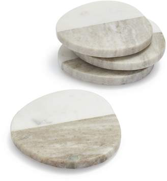 Sur La Table Two-Tone Marble Coasters, Set of 4