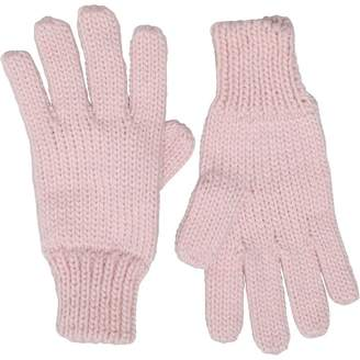 Board Angels Girls Knitted Gloves Dusky Pink