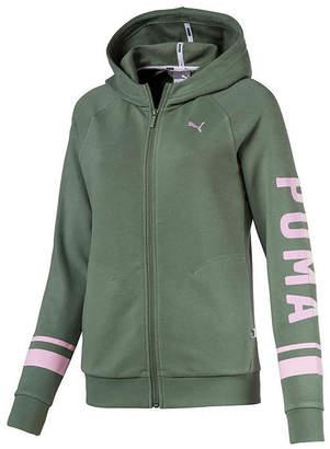 Puma Athletic Hoody Long Sleeve Knit Logo Hoodie